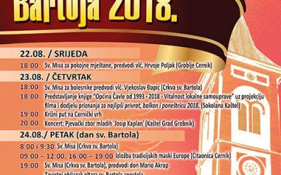 Bartoja 2018. – novi izmijenjeni program